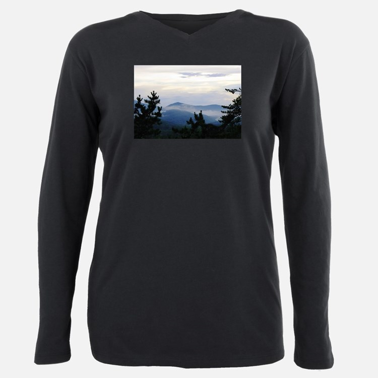 Smoky Mountain Sunrise Plus Size Long Sleeve Tee