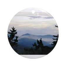 Smoky Mountain Sunrise Round Ornament