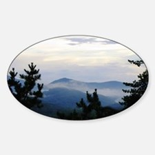 Smoky Mountain Sunrise Sticker (Oval)
