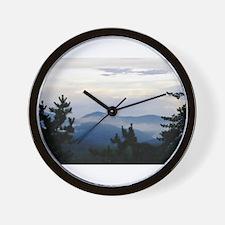 Smoky Mountain Sunrise Wall Clock