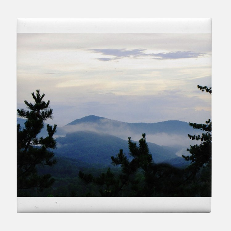 Smoky Mountain Sunrise Tile Coaster