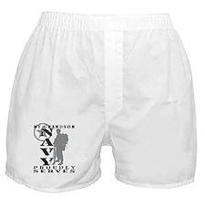 Grandson Proudly Serves 2 - NAVY Boxer Shorts