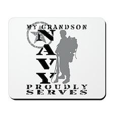 Grandson Proudly Serves 2 - NAVY Mousepad