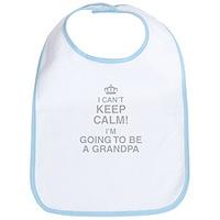 I Cant Keep Calm Im Going To Be A Grandpa Bib
