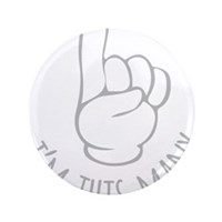 "Im This Many One Birthday 3.5"" Button (100 pack)"