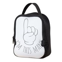 Im This Many One Birthday Neoprene Lunch Bag