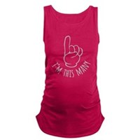 Im This Many One Birthday Maternity Tank Top