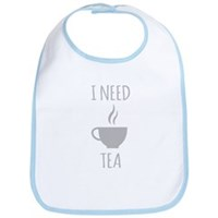 I Need Tea Bib