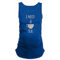 I Need Tea Maternity Tank Top