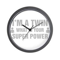 Im A Twin What Is Your Super Power Wall Clock