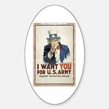 WWI US Army Uncle Sam I Want You Decal