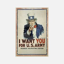 WWI US Army Uncle Sam I Want You Rectangle Magnet