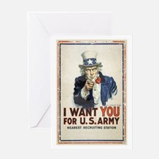 WWI US Army Uncle Sam I Want You Greeting Card