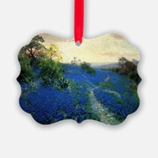 Onderdonk painting, Bluebonnet Fi Ornament