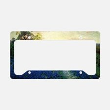 Onderdonk painting, Bluebonne License Plate Holder