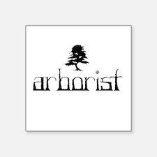 """Arborist Square Sticker 3"""" x 3"""""""