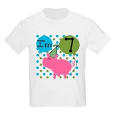 Pig 7th Birthday T-Shirt