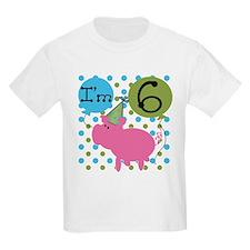 Pig 6th Birthday T-Shirt