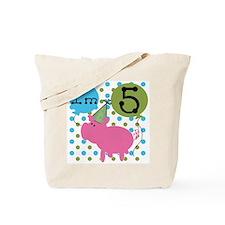 Pig 5th Birthday Tote Bag