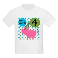 Pig 4th Birthday T-Shirt