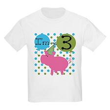 Pig 3rd Birthday T-Shirt