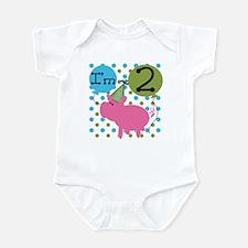 Pig 2nd Birthday Infant Bodysuit