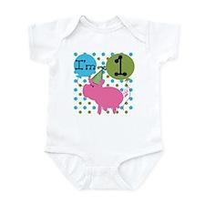 Pig 1st Birthday Infant Bodysuit