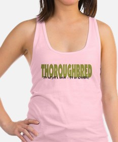 Unique Thoroughbred horse Racerback Tank Top