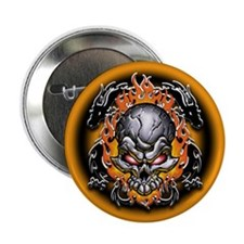 "Tribal Dragons and Skull 2.25"" Button (10 pack)"