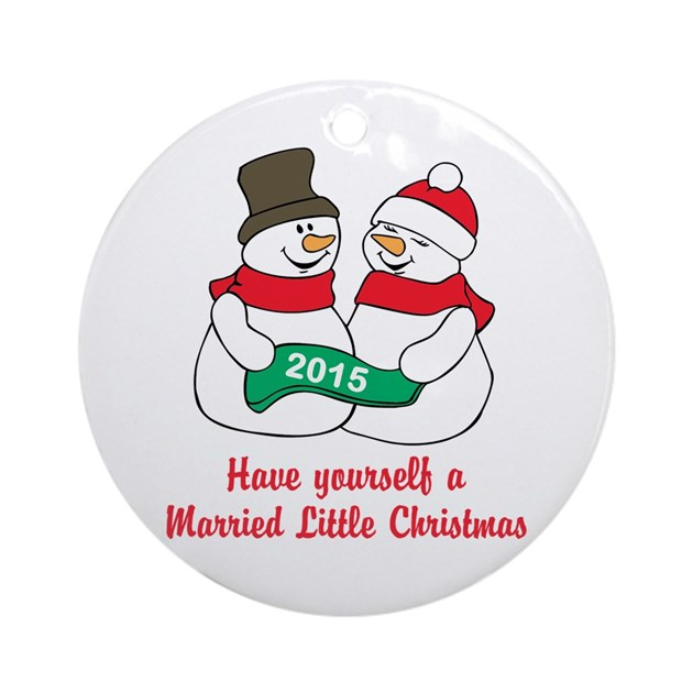 Newlywed Christmas Ornament