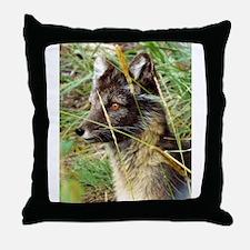 Watchful Fox Throw Pillow