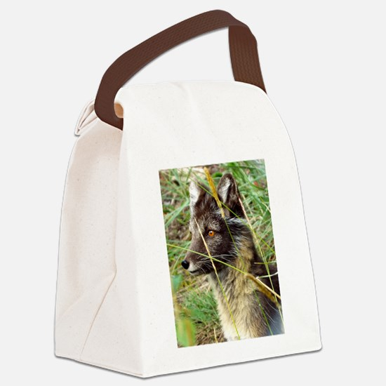 Watchful Fox Canvas Lunch Bag