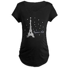 Paris Snow Maternity T-Shirt