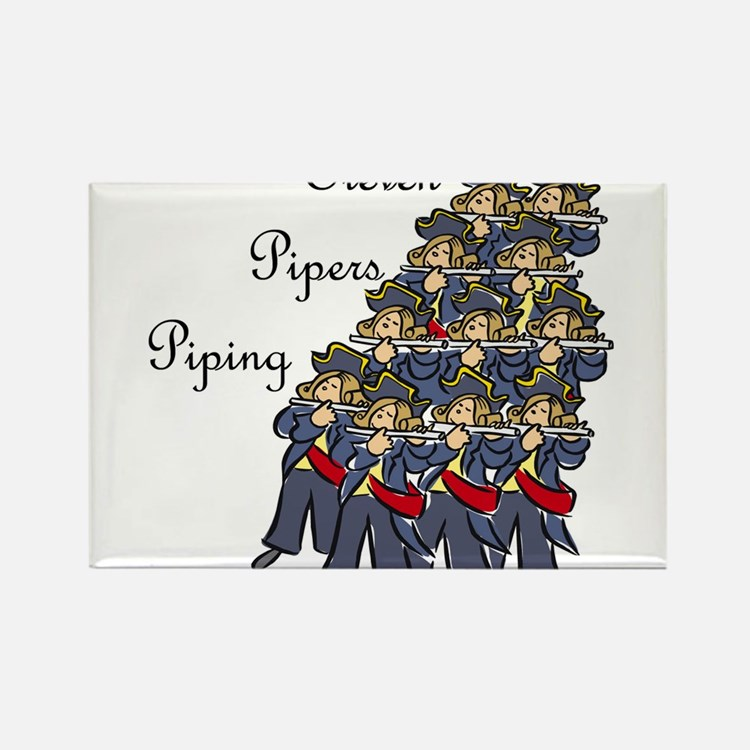 Cute Pipers piping Rectangle Magnet