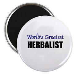 Worlds Greatest HERBALIST Magnet