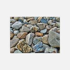 Beach Rocks 5'x7'Area Rug
