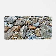 Beach Rocks Aluminum License Plate