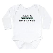 Cute Correctional officeer Long Sleeve Infant Bodysuit