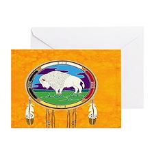 White Buffalo Card Greeting Cards