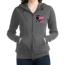 Cute I wear pink for my sister Women's Zip Hoodie