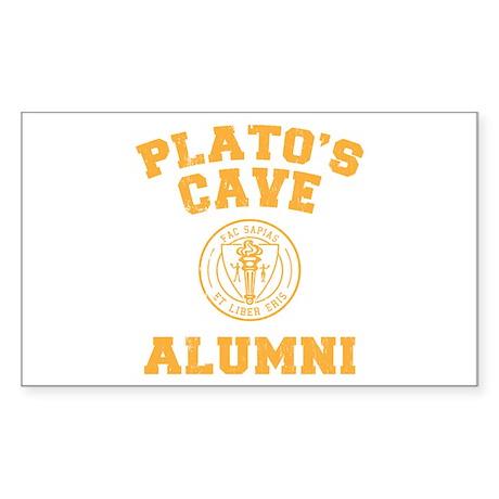 Plato Rectangle Sticker