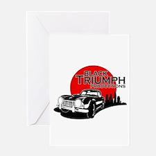 Black Triumph Greeting Cards