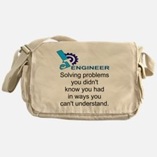 ENGINEERSolving problems you didn't  Messenger Bag