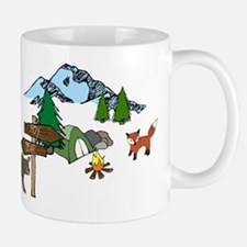 Camping with a Bear and Fox Mugs