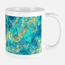 Turquise Crumpled Pattern Abstract Mugs