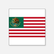 "Cute Mexican flag Square Sticker 3"" x 3"""