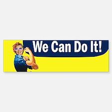 Hillary Clinton We Can Do It Sticker (Bumper)