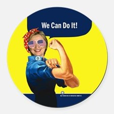 Hillary Clinton We Can Do It Round Car Magnet