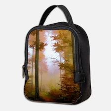 Foggy Autumn Forest Neoprene Lunch Bag