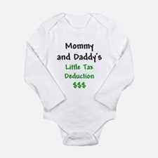 Cute Tax deduction Long Sleeve Infant Bodysuit